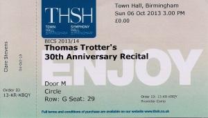 TT concert ticket