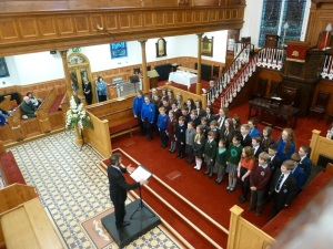The Music promise Junior Choir, Derry, winners of the youth competition, conducted by Maurice Kelly