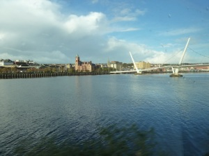 The Guildhall, River Foyle and Peace Bridge, Derry