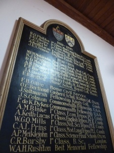 Britten features on this honours board...